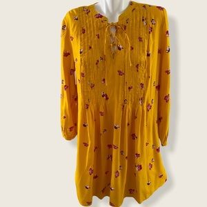 NWT Old Navy Long Sleeve Lace Up Floral Dress